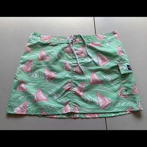 Vineyard Vines Women's Skirt Ocean Boats SZ 12